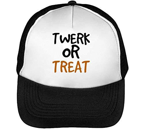 Twerk Or Treat Trucker Cap Herren Damen Schwarz Weiß Snapback