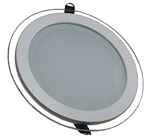 V-TAC 4743 12 W LED Panel Einbauleuchte Glas - Rund - 6000 Kelvin kaltweisses VT-1202G RD