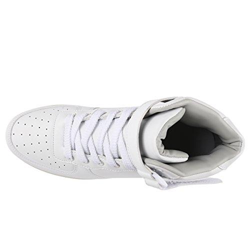 tuluo Kid e uomo e donna USB carica LED 7 Colori High Top Sneakers Luce Scarpe White