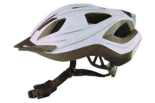 Crivit Sports Fahrradhelm Weiss S/M 54-60cm Für Sie und Ihn mit Rücklicht