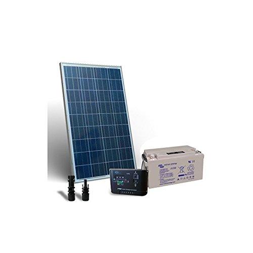 """Kit Solare Pro 130W Pannello Fotovoltaico + Regolatore 10A-PWM + Batteria 60Ah El """"Kit Solar Pro son ideales para aquellos que aman y quieren utilizar la energía solar. Ellos son el trampolín perfecto para el enorme potencial que la energía renovabl..."""