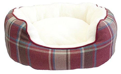 Festive Collection Navidad Oval Cama Perros, tamaño