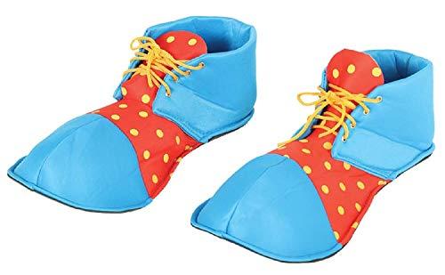 Fancy Me Erwachsene Damen Herren Hell Bunte Oversize Clown Schuhe Zirkus Karneval Kostüm Outfit Zubehör