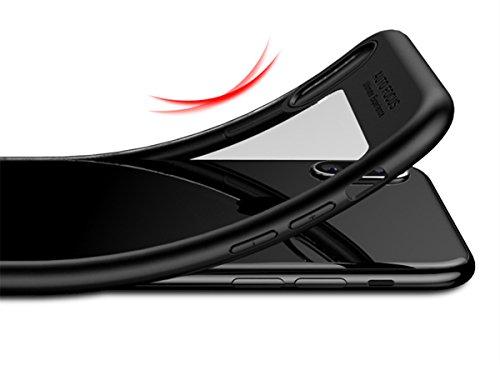 xhorizon MLK Couvercle à Deux Couches Double Protection Séries Protecteur Antichoc Contre Rayure pour iPhone X avec 9H film de protection verre trempée Noir
