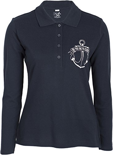 Küstenluder BE THE ONE TO GUIDE ME Mermaid Anker Sailor Langarm POLO-SHIRT Rock