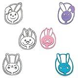 3 stampi a forma di coniglio di Pasqua, in acciaio al carbonio, per lavori artigianali