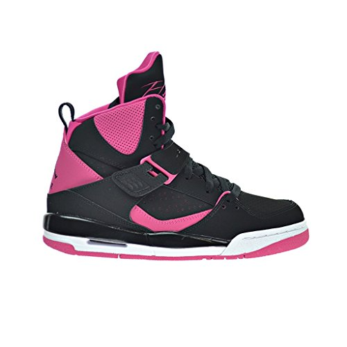 Nike Damen Jordan Flight 45 High IP GG Basketballschuhe, Black (Schwarz Rosa-Weiß Vivid), 42 EU (Nike Jordan Flight Damen)