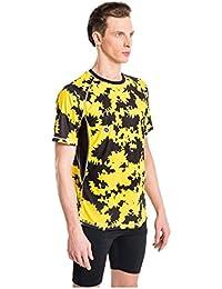 Nessi Shirt MK Fitness Herren Laufshirt Langarm Atmungsaktiv Yellow Ink