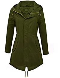 f072e0d1ac74 NEW Women s CANVAS COTTON MAC Ladies TRENCH JACKET COAT Khaki Size 8 10 12  14 16