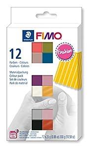 STAEDTLER 8023-C12-5. Pasta para modelar FIMO. 12 Pastillas de Colores de 25 Gramos. Pack Colores Fashion.