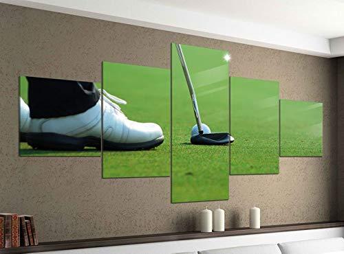 Acrylglasbilder 5 Teilig 200x100cm Sport Golf Schläger Ball Gras Druck Acrylbild Acryl Acrylglas Bilder Bild 14F483
