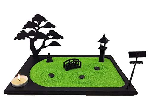 Bonseki Giardino Zen da tavolo in miniatura personalizzabile 30x20 cm. 3 elementi e bonsai in legno. Scopri le opzioni!