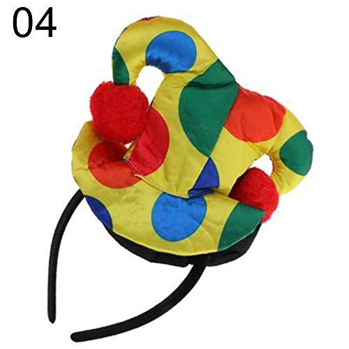 dontdo Unisex Polka Dot Print Clown Hut Haar Hoop Stirnband Kostüm Cosplay Requisite