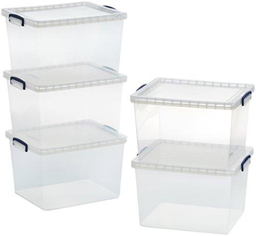 amazonbasics-scatole-portaoggetti-in-plastica-trasparente-con-coperchi-335-l-confezione-da-5