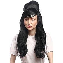 WIG ME UP ® - 91013-ZA103 ZA615 Peluca Carnaval señoras Negro Largo Liso Peinado