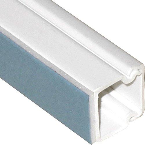4x 1m Lönartz® Kabelkanal 15 x 15mm mit unterschäumtem Kleber, hält auch auf strukturiertem Untergrund bombenfest (4xKK-15x15WS-1)