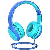 Gorsun Auriculares para niños, Volumen Limitado en el oído Auriculares para niños con Conector de Audio de 3.5 mm para niñas