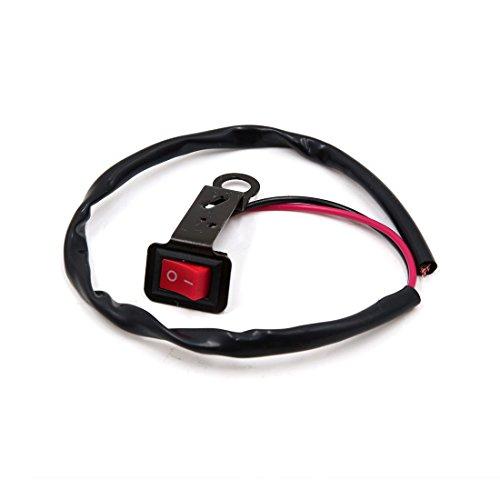 sourcingmap® Moto rouge interrupteur démarrage électrique phares Câble Rétroviseur