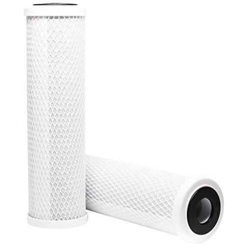 2-pack di ricambio aquios aqfs120attivato filtro Carbon Block-Filtro universale 10pollici