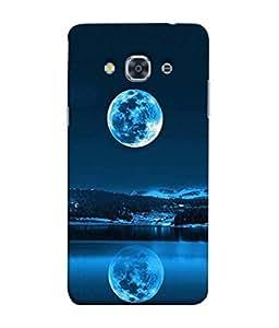 PrintVisa Designer Back Case Cover for Samsung Galaxy J3 2017 (Moon light water reflector hills)