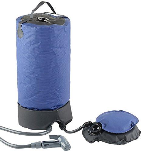 Semptec Urban Survival Technology Solardusche: Tragbare Druck-Campingdusche mit Fußpumpe, 11 Liter (Dusche)