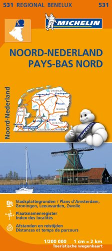 Carte Pays-Bas Nord Michelin par Collectif MICHELIN