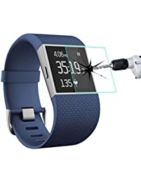 Malloom A prueba de explosiones películas de vidrio templado Protectores de pantalla para Fitbit Surge Smart Watch