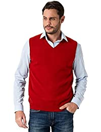 Wool Overs Pull sans manches homme cachemire mérinos