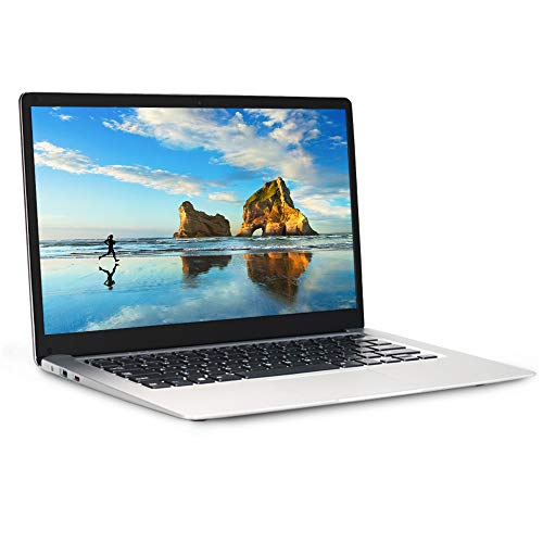 Ordinateur Portable 14,1 Pouces, PC Portable de Intel Atom x5 E8000 Quad Core, Windows 10 Ultrabook, USB3.0, HDMI, WiFi (4GO RAM+64GO EMMC+500GO HDD)