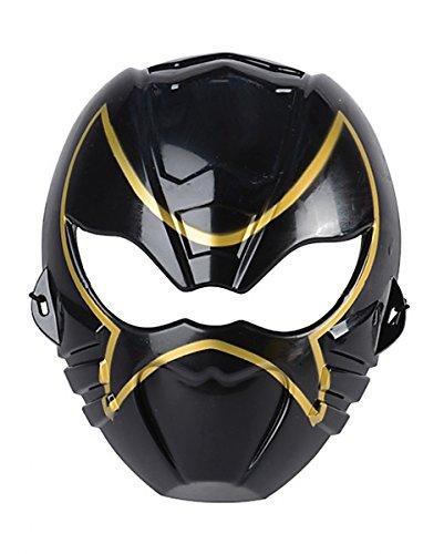 Schwarze Kinder Ninja Halbmaske für Fasching & Halloween (Asiatisches Auge Brille Kostüm)