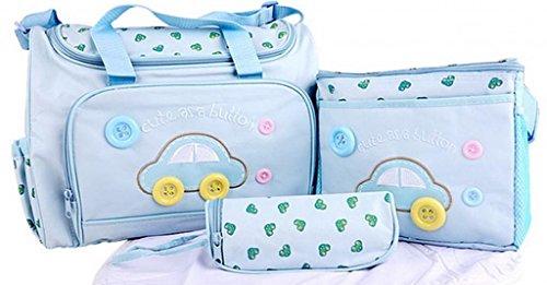 EOZY Babytasche Wickeltasche Set Pflegetasche Wickelhenkeltaschen Mummy Bag 4-teiliges Wickelset (#A Hellblau)