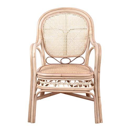YIKUI Stuhl, handgewebte Anlage Rattan Sessel, natürliche umweltfreundliche Rattan Stuhl, Indoor-und Outdoor-Freizeit Sofa Stuhl - Stapelbarer Outdoor-stuhl