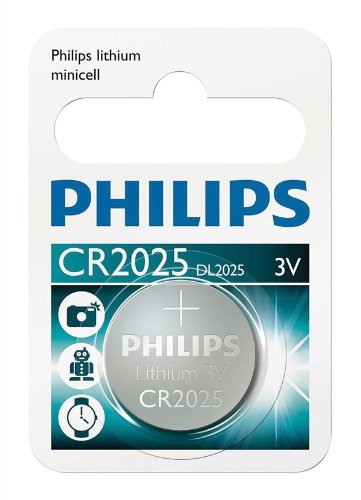 Blister of 1 CR2025 Philips Lithium Coin Cell