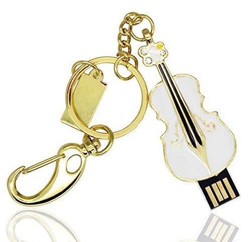 USB-Stick Flash Drive Mode Niedlich Geige USB 2.0 U Festplatte 4/8/16/32 / 64GB HochgeschwindigkeitsüBertragung 55 * 27 * 7 Mm Klein Und Tragbar Computer Auto Mit Stereoanlage (16GB)