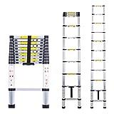 Myifan - Escalera telescópica multiusos de aluminio portátil. Escalera plegable y extensible EN131 y normas CE