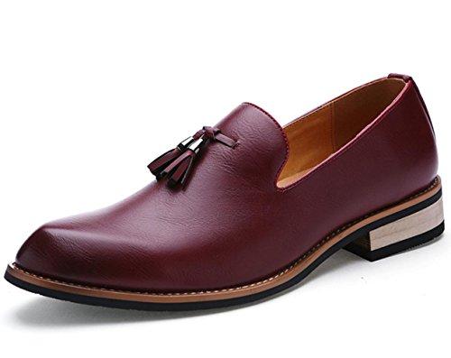 CSDM Casual Business Chaussures Chaussures en cuir British Fashion Nightclub Red