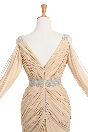 CoCogirls - Robe - Taille empire - Femme Champagne