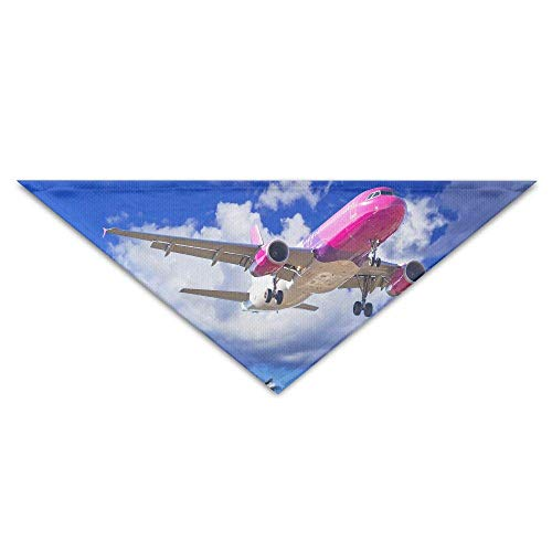 Gxdchfj Tropics Airplane Passenger Airplanes Flight Clouds Triangle Pet Scarf Dog Bandana Pet Collars for Dog Cat - ()