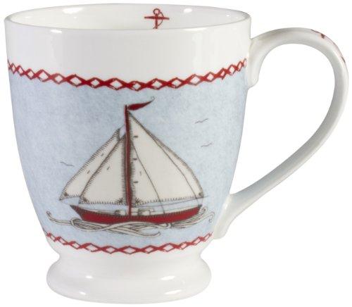 Jan Constantine Grand mug en porcelaine Fine Grey Boat Couleurs assorties