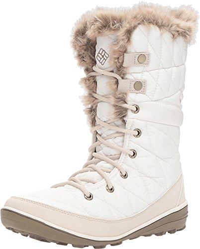 Columbia Heavenly Omni-Heat Snow Boot Winter Shoe - Sea Salt/Fawn - Womens - 6 - Boot-fawn