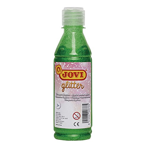 Jovi - Glitter témpera, 250 ml, Color Verde (51717)