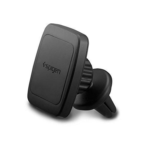 Auto Handyhalterung, Spigen Kuel [Premium Air Vent Magnetic] [Hex Neodymium Core] [Universal KFZ Handyhalterung 360°] Magnetic Auto KFZ Handyhalterung Unterstützung für große Handys - iPhone 7 / 7 Plus / SE / 6S / 6 Plus, Samsung Galaxy Note 8/S8/ S8 Plus / S7 / S7 Edge / Note 5 / 4, LG G6/ G5 / G4 / G3, Huawei, Nexus 5X / 6P, Xiaomi, OnePlus, Blackberry, Galaxy A/J/E UND MEHR - H12(A201) Black