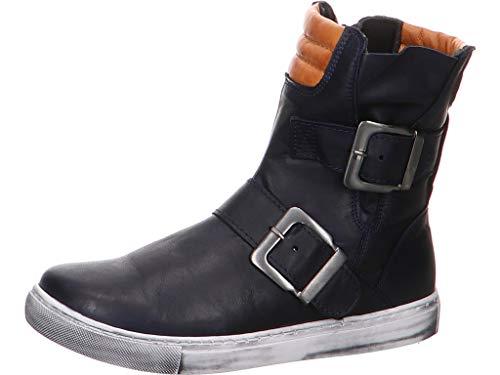 Andrea Conti Damen 0346833 Biker Boots Mehrfarbig (D.Blau/Cognac 378) 40 EU