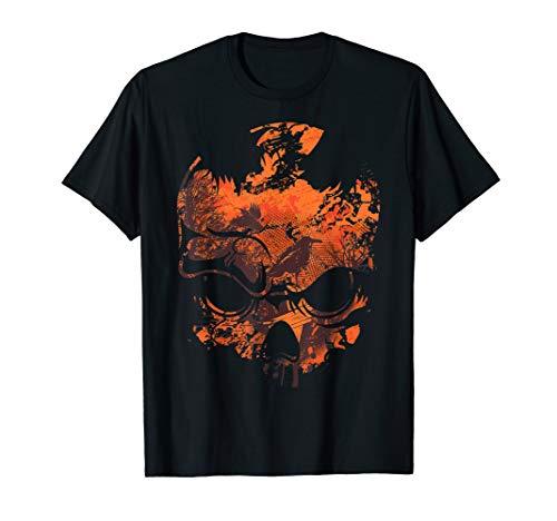 Skull Crow Dawn Kostüm Lustiges Skull Halloween Gift (Zombie Dawn Kind Kostüm)