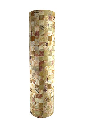 Mosaic Onyx Marble Floor Lamp in Cylinder Form 150 x 30 cm
