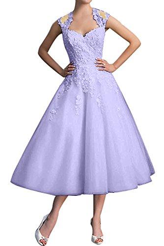 Toscana dall'effetto senza spalline stanotte vestimento Kurz sposa raso Homecoming Cocktail Party vestimento Lavanda