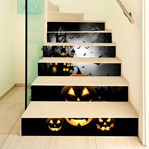 TianranRT♕ Sticker Für Innentreppen,New Sticker Halloween 3D Sticker Für Treppen In Grabsteinkrähe Wasserdichter Wandaufkleber Raumdekoration,Mehrfarbig (Halloween-ideen Einfache 2019)