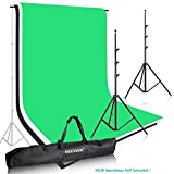 Neewer Photo Studio Backdrop Support System Background Stand 2.6M x 3M/8.5ft x 10ft Kit with Adjustable Cross Bar 121cm to 308cm/4ft to 10ft and Backdrop Stand Carrying Case for Muslins Backdrops and Chromakey Screens (Backdrops Not Included)