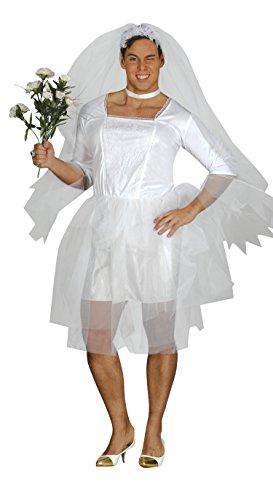 Guirca-84395 Kostüm für Erwachsene, Weiß, Einheitsgröße, 84395.0