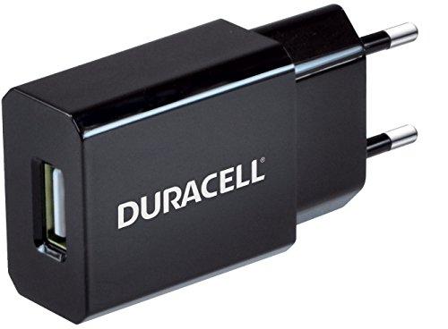 Duracell Mobile Charger (Duracell 1A USB-Ladegerät Netzladegerät kompatibel mit Smartphones und MP3-Playern 2-Pin Netzstecker - Schwarz)